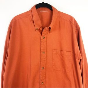 5/$25 Eddie Bauer Orange Button Down Shirt